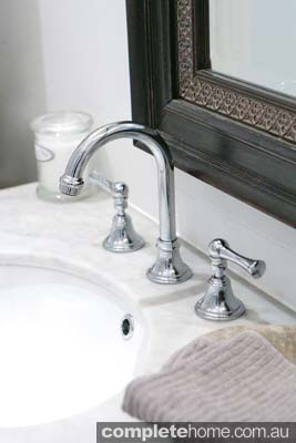 french rustic style bathroom taps