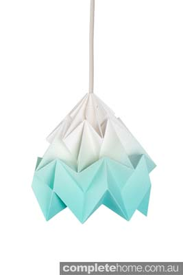 white and green eco moth lamp