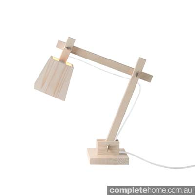 white wood lamp home office
