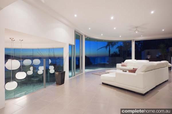open plan modern lounge 360 views