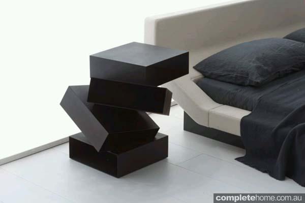 modern storage table sculpture