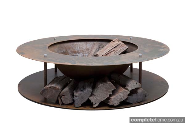 Large Wood Store rustic FirePit