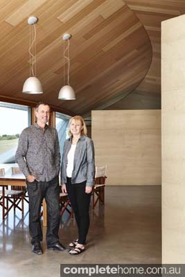 Owners Grand Designs Australia Inverloch sand dune house