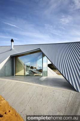 modern exterior Grand Designs Australia Inverloch sand dune house
