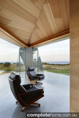 Inverloch sand dune house contemporary swivel seats