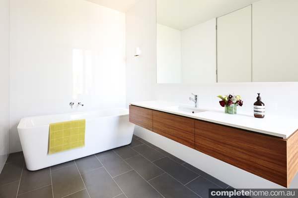 timber vanity unit