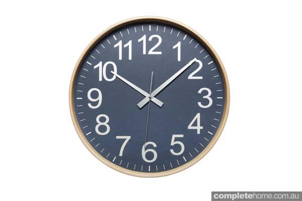 Tempo Clock Large Navy