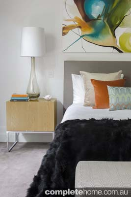 contemporary interior design bedding