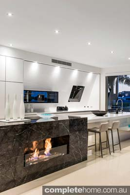 Enigma Interiors home project - awesome fireplace