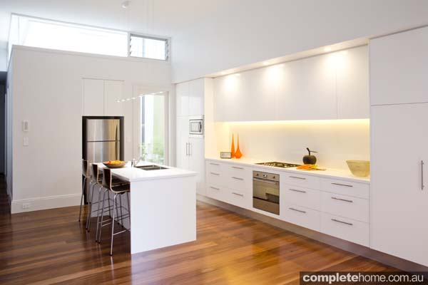 Light white kitchen design