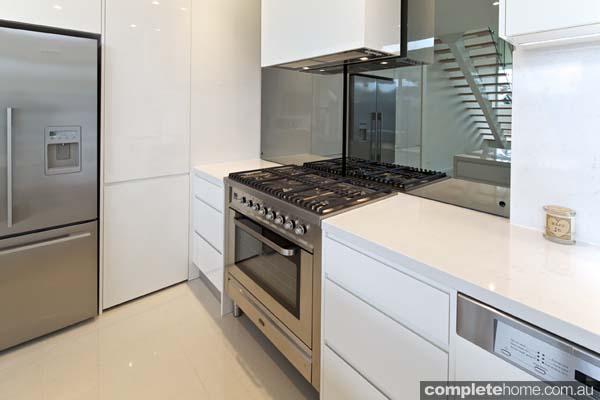 Carrera sleek white kitchen design