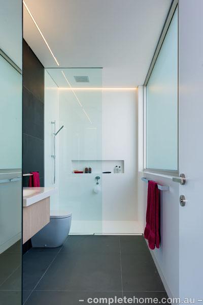 contemporary bathroom features
