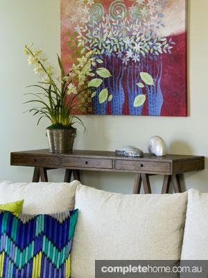 John Croft seaside home design - colourful interior design