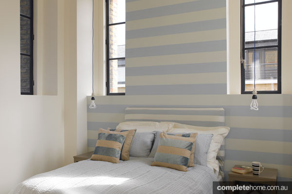 striped theme bedroom