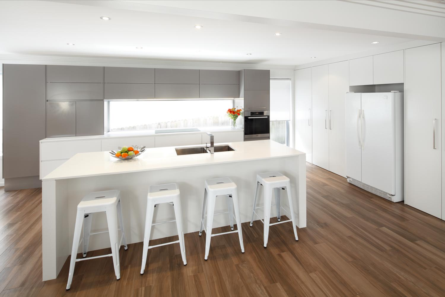 kitchen designs with timber floors sleek modern kitchen completehome 612