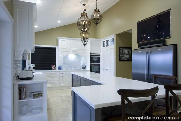 Garsden and Clarke kitchens - white and gold design