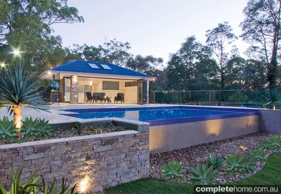 Cabana and pool perfect for entertaining completehome for Pool home show brisbane