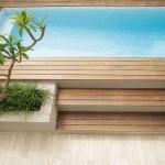 Pool renovation: Modern timber pool area