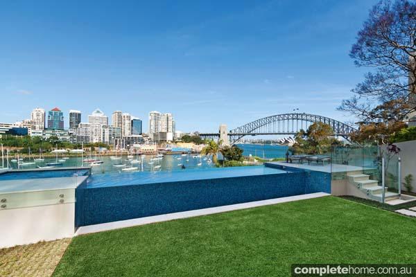 Crystal pools - pool design and backyard area