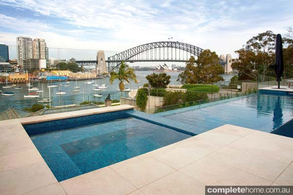 Crystal pools - gorgeous Sydney harbour-side pool stone work
