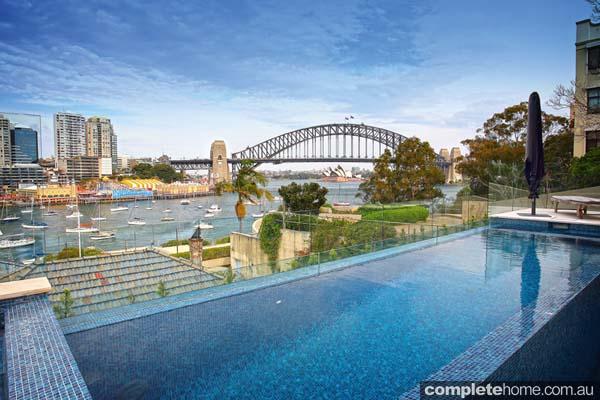 Crystal pools - gorgeous Sydney harbour bridge view