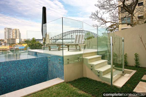 Crystal pools - gorgeous Sydney harbour-side pool glass fencing