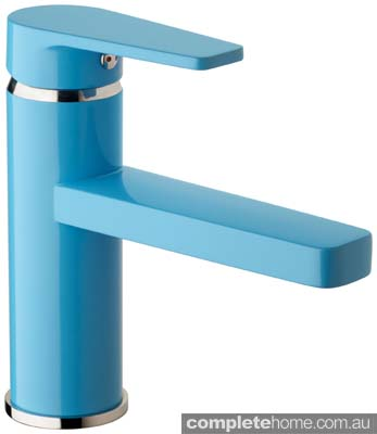 Ram Yeva Basin Mixer 125mm Spout Blue $595 RRP