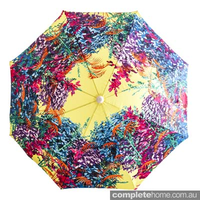 Shrubbery beach umbrella