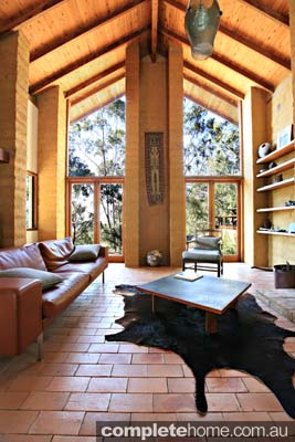 spacious mud brick home design