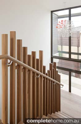 mis matched timber contemporary staircase