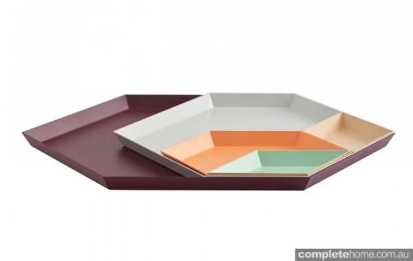 geometric tray set