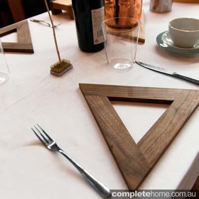Black Walnut Trivet table setting