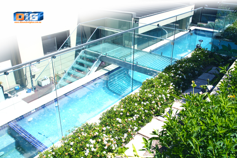 Outdoor project: stunning glass bridge