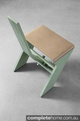 mint green and neutral chair