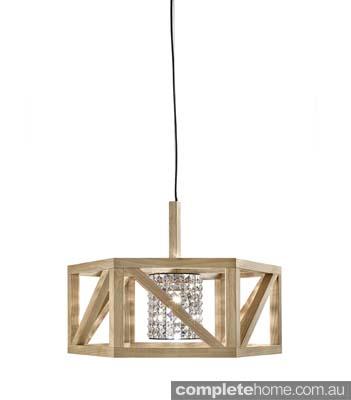 natural timber pendant