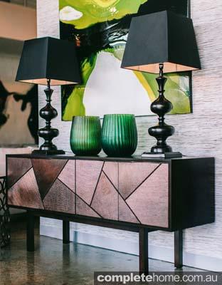 prisma buffet geometric style cabinet