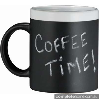 blackboard style coffee mug