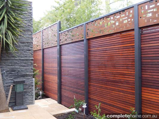 hardwood and steel screen
