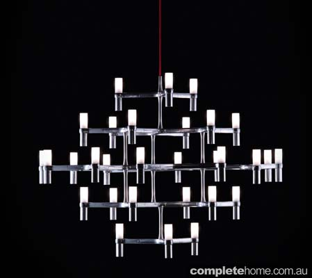 Geometric and unusual chandelier lighting