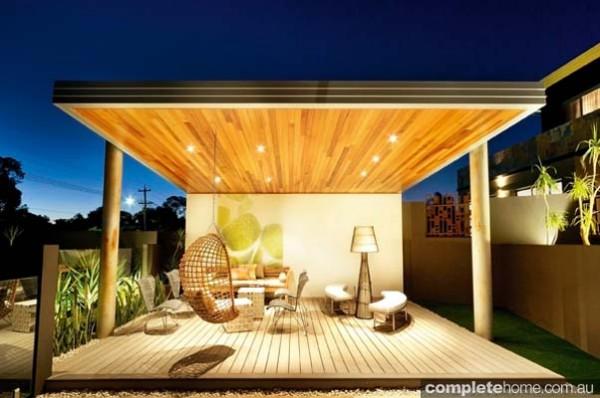 Dianella contemporary wooden outdoor area