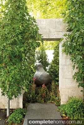 Fresh garden sculpture