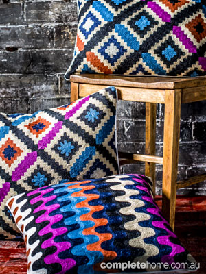 Stylish and colourful cushions