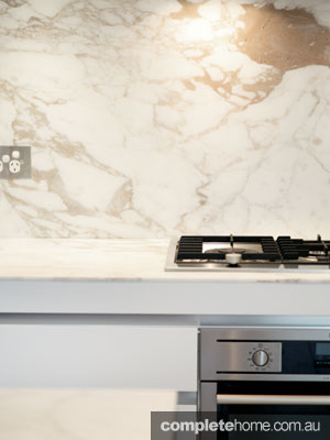 Art of Kitchens - calcutta marble splashback