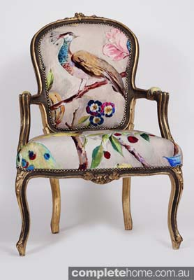 peacock pattern and vintage style louis chair furniture