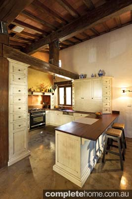 rural tuscan lifestyle kitchen