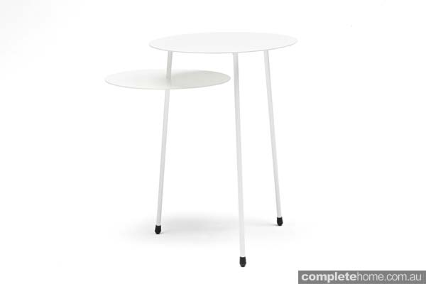 two tier contemporary design table