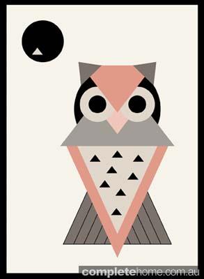 miss owl artistic print