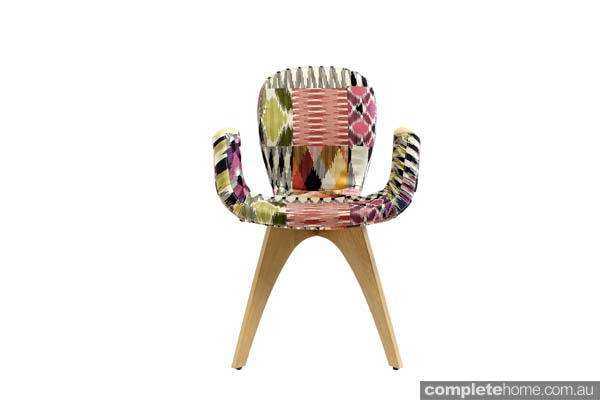 Patch fabric chair