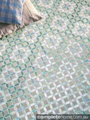 Sicis tiling aqua and white tiles by Elite