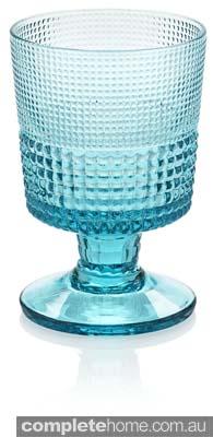 cute vintage style aqua glass